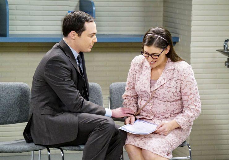 Sheldon Cooper (Jim Parsons) and Amy Farrah Fowler (Mayim Bialik)