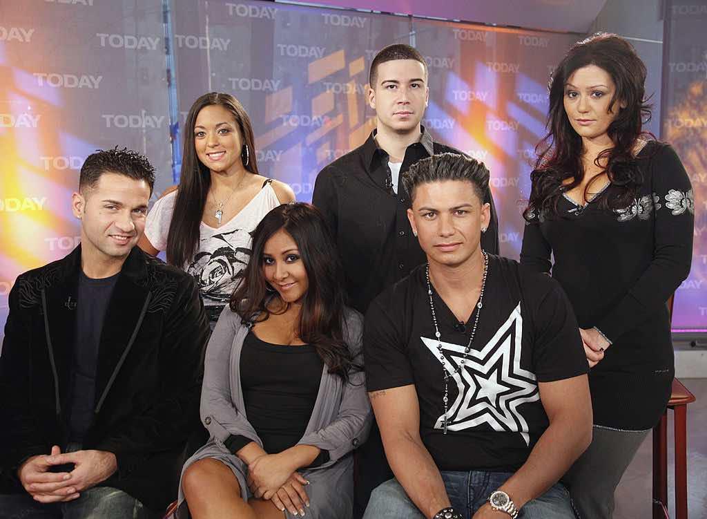"Mike ""The Situation"" Sorrentino, Sammi ""Sweetheart"" Giancola, Nicole ""Snooki"" Polizzi, Vinny Guadagnino, Paul ""DJ Pauly D"" DelVecchio, Jenni ""JWoww"" Farley from 'The Jersey Shore'"