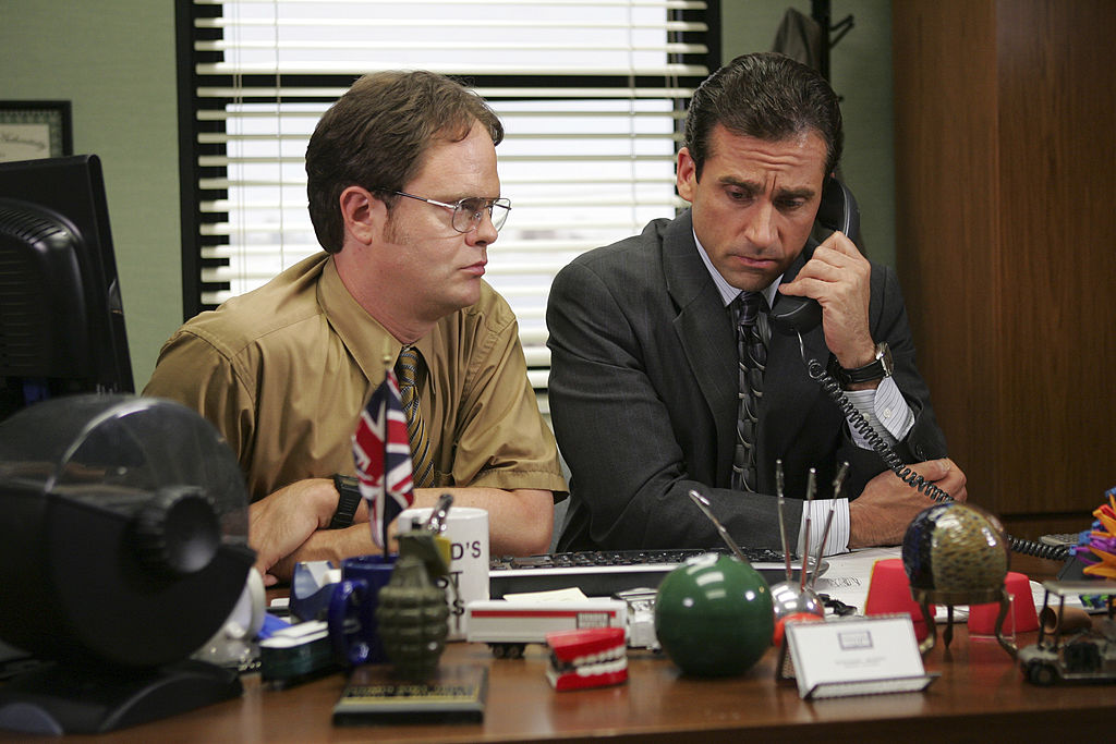 Rainn Wilson as Dwight Schrute, Steve Carell as Michael Scott on 'The Office'