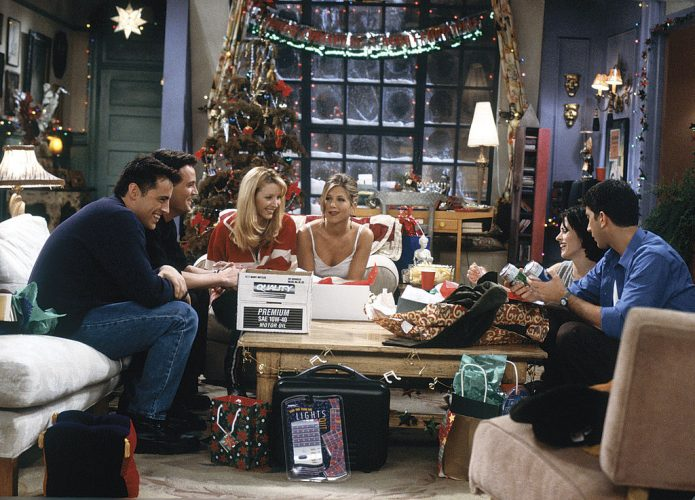 Matt LeBlanc as Joey Tribbiani, Matthew Perry as Chandler Bing, Lisa Kudrow as Phoebe Buffay, Jennifer Aniston as Rachel Green, Courteney Cox Arquette as Monica Geller, and David Schwimmer as Ross Geller