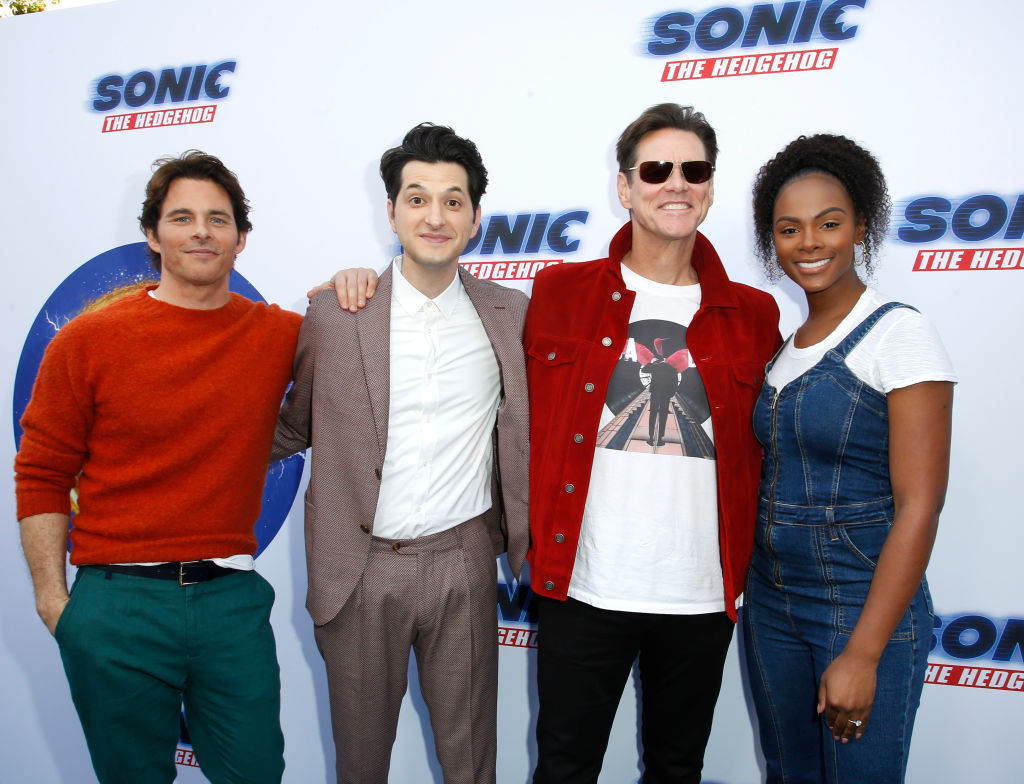 Tika Sumpter with the cast of Sonic the Hedgehog | Rachel Murray/Getty Images for Paramount Pictures
