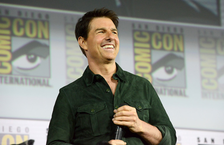 Tom Cruise speaks onstage
