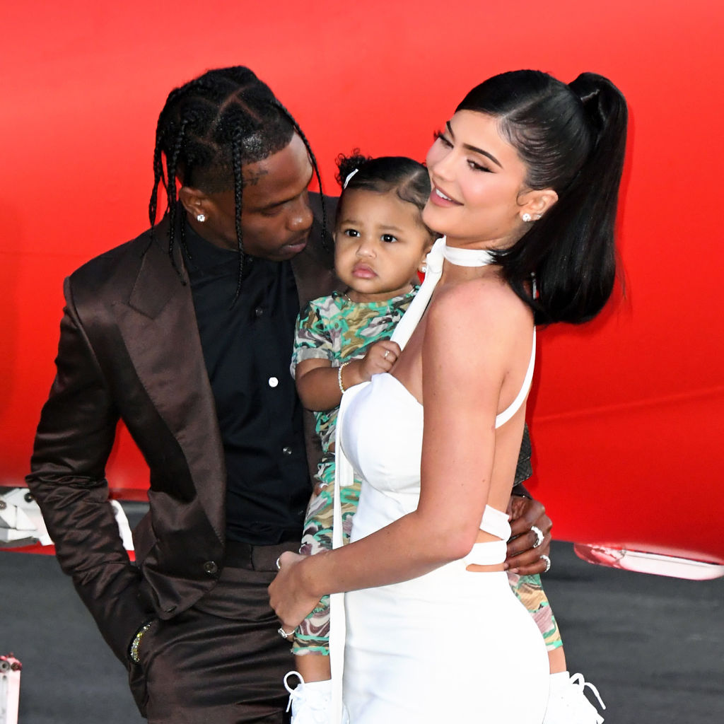 Travis Scott, Kylie Jenner, and their daughter, Stormi Webster