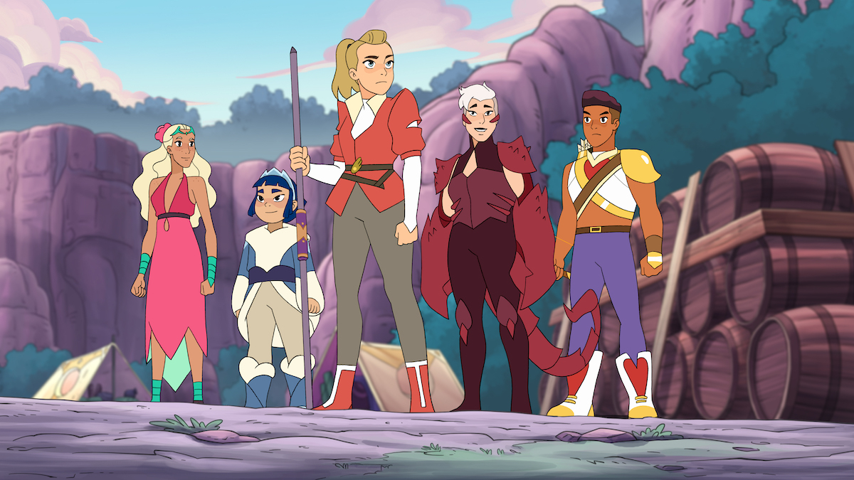 Adora and her friends in 'She-Ra and the Princesses of Power'