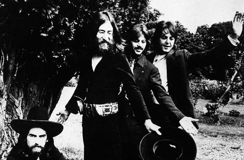 Beatles at the band's final photo shoot in 1969