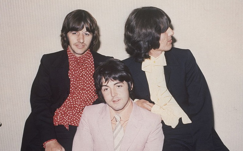 Beatles Ringo, Paul, and George