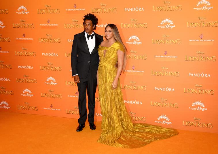 Beyonce y Jay-Z en la alfombra roja