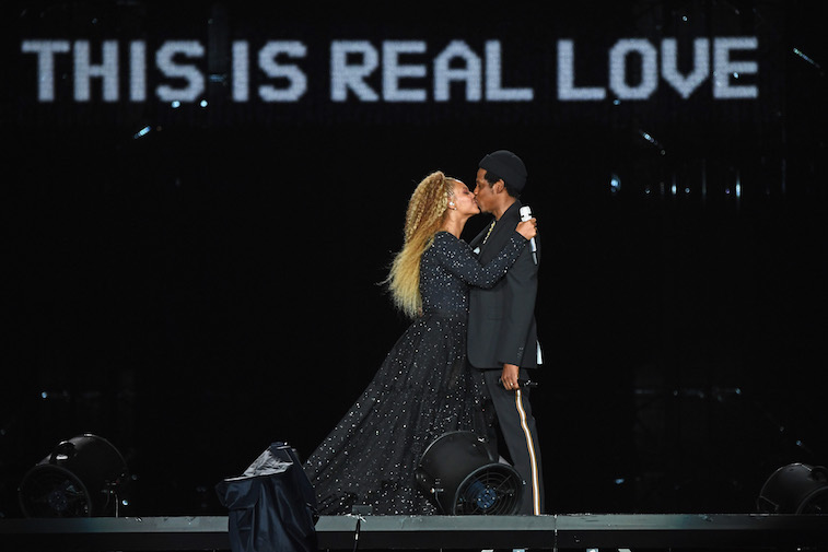 Beyonce and Jay-Z perform onstage