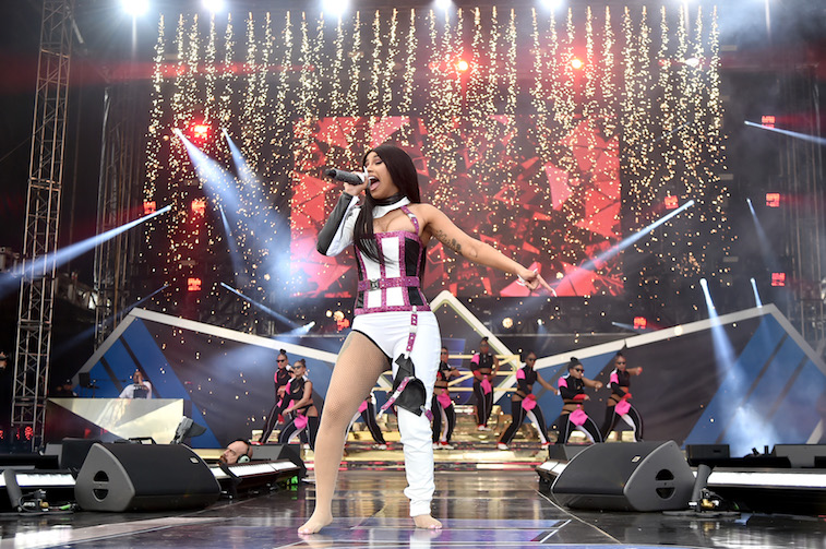 Cardi B performs onstage