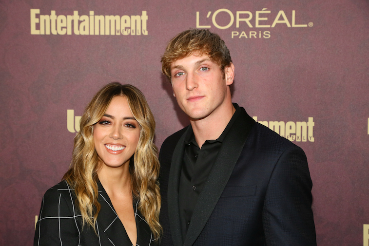 Chloe Bennet and Logan Paul on the red carpet