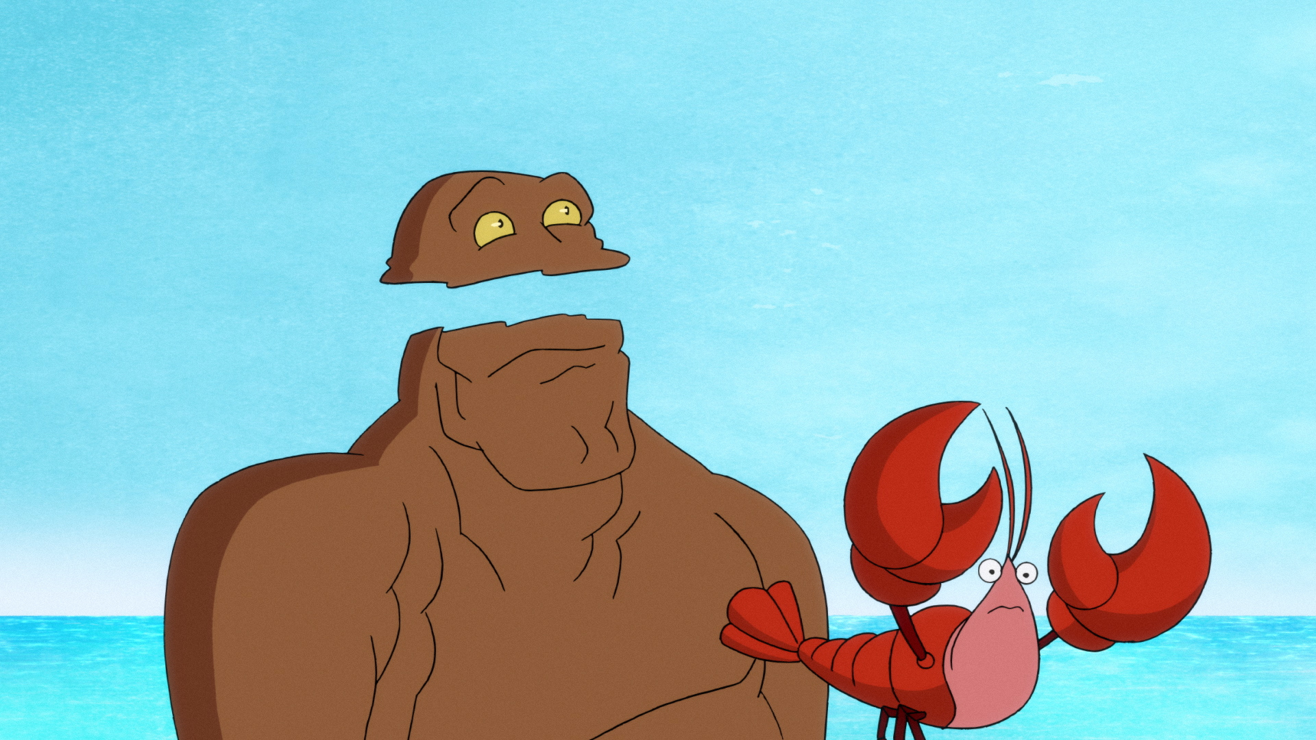 Clayman has a bit of a run-in with a lobster, 'Harley Quinn'