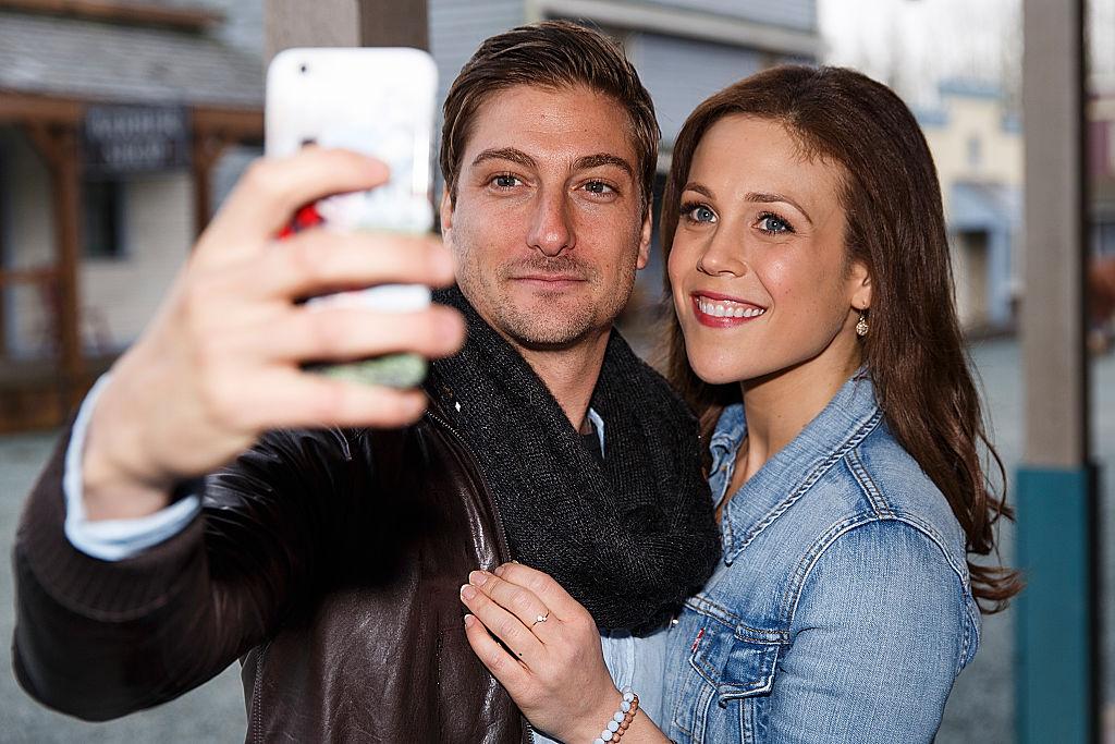 Daniel Lissing and Erin Krakow taking a selfie