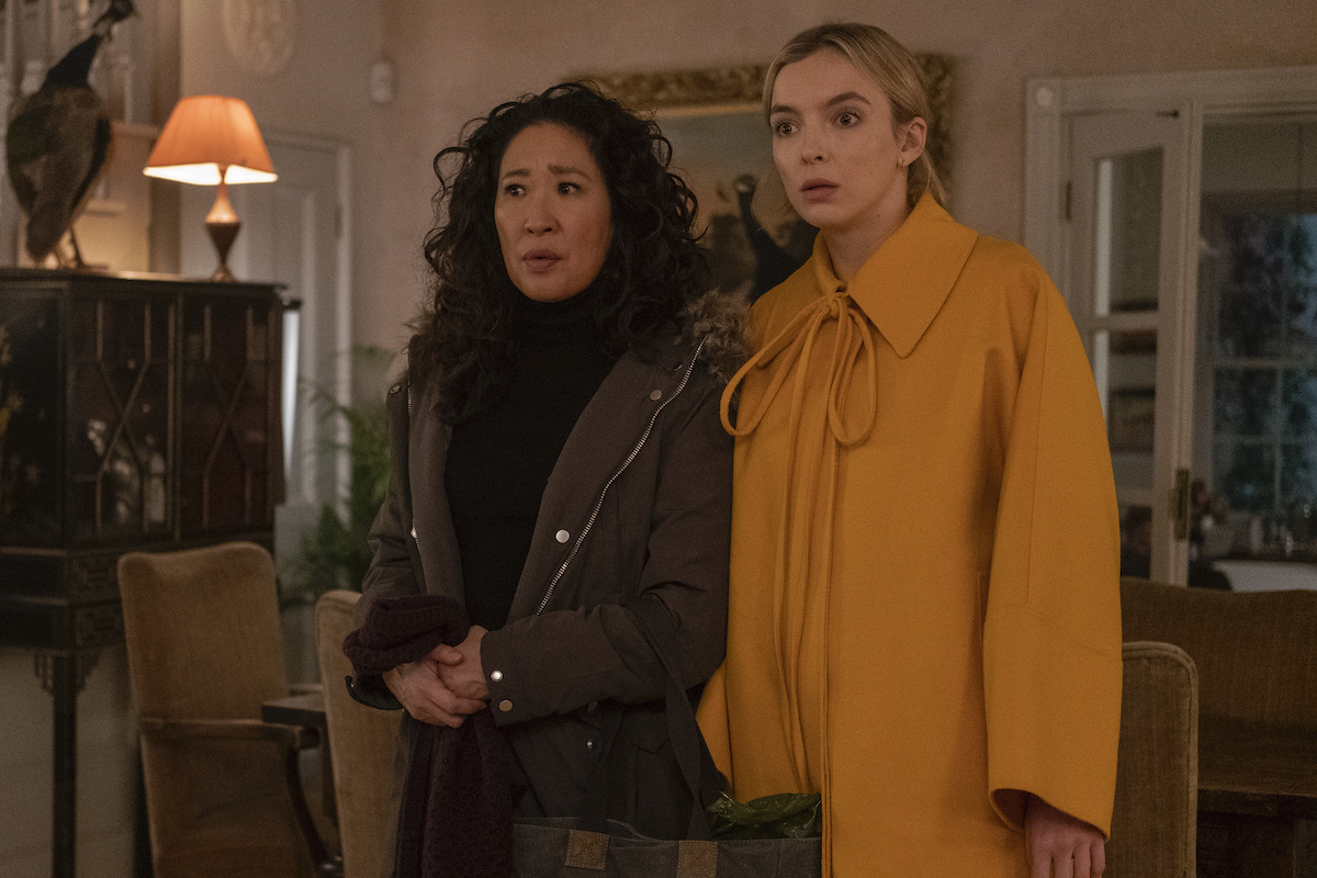Jodie Comer as Villanelle and Sandra Oh as Eve Polastri in the Season 3 finale of 'Killing Eve'