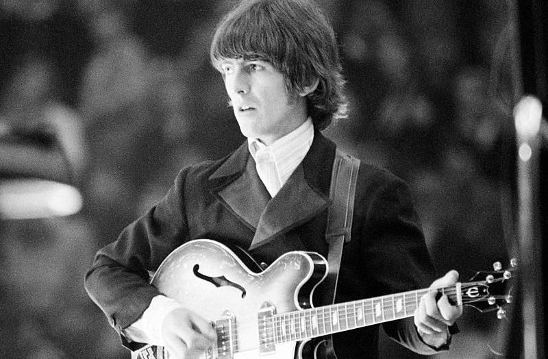 Beatles guitarist George Harrison in 1966