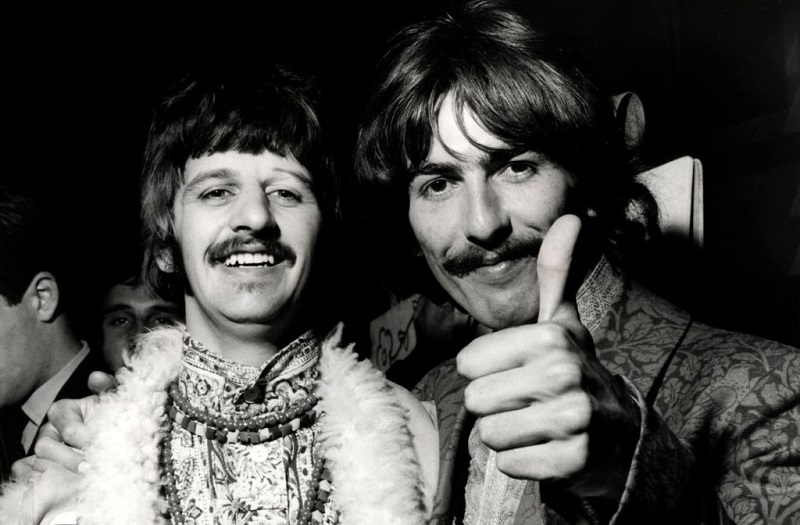 Ringo Starr and George Harrison in 1967