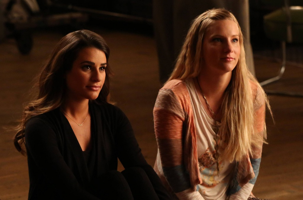 Lea Michele and Heather Morris in 'Glee'