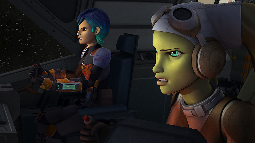 """Sabine Wren and Hera Syndulla in 'Star Wars Rebels' episode """"Wings of the Master"""""""