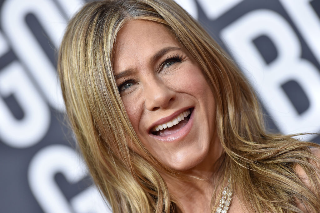 Jennifer Aniston attends the 77th Annual Golden Globe Awards on January 05, 2020