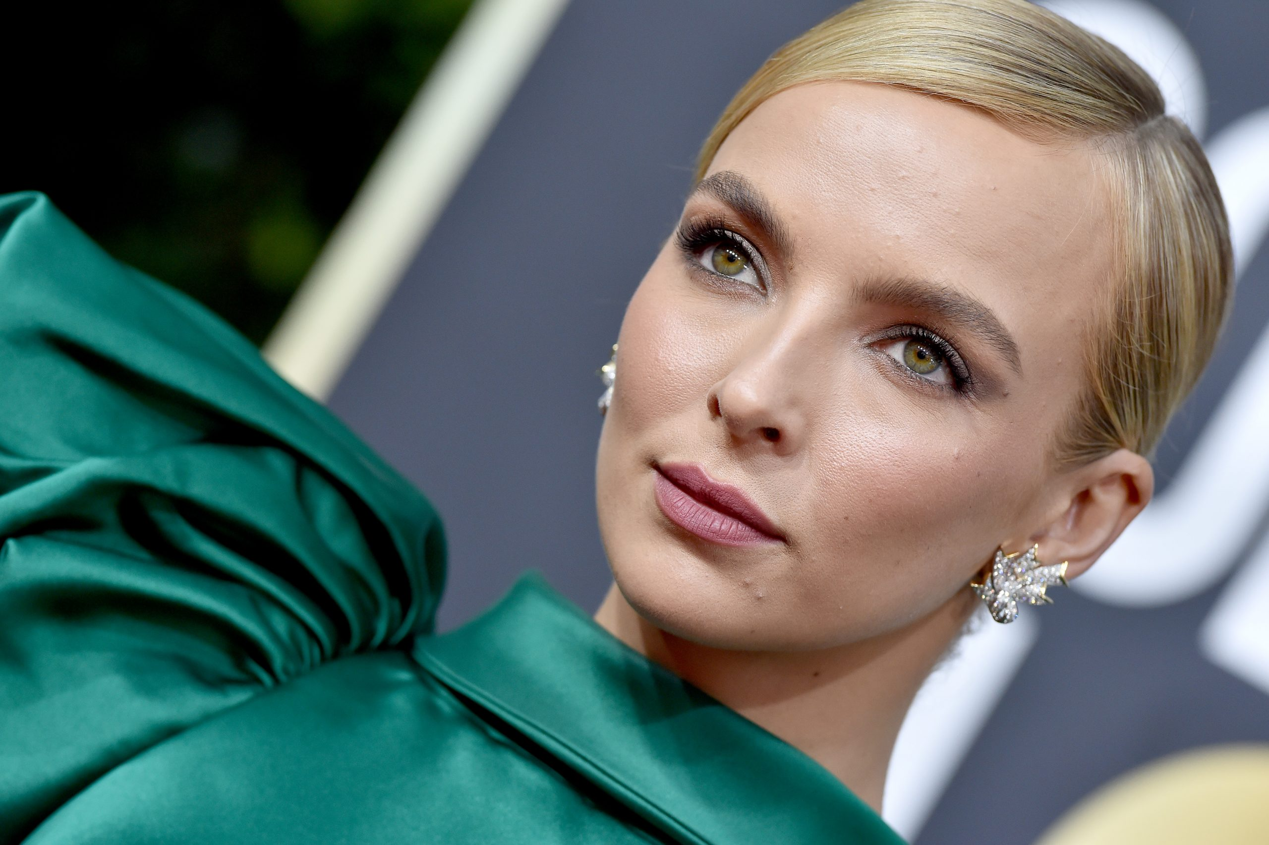 Jodie Comer at the 77th Annual Golden Globe Awards on January 05, 2020.