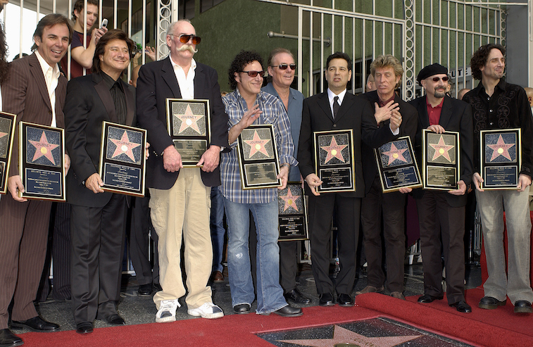 Journey accepts their star on the Hollywood Walk of Fame