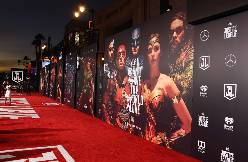 A general look at the red carpet at the premiere of 'Justice League' on November 13, 2017