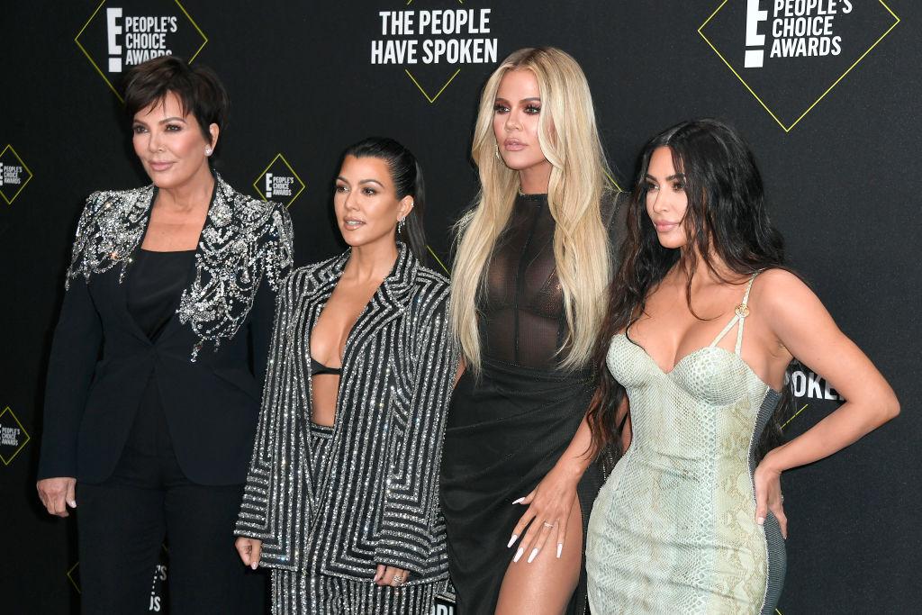 Kris Jenner, Kourtney Kardashian, Khloe Kardashian, and Kim Kardashian West attend the 2019 E! People's Choice Awards