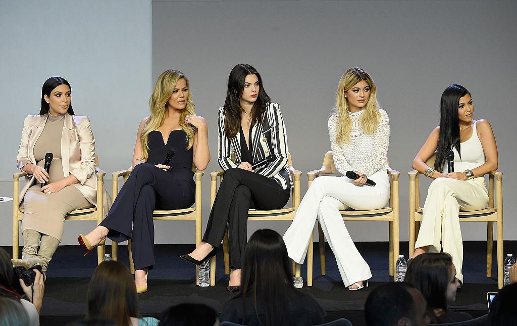 Kim Kardashian West, Khloé Kardashian , Kendall Jenner, Kylie Jenner, and Kourtney Kardashian attend Apple Store Soho Presents Meet The Developers