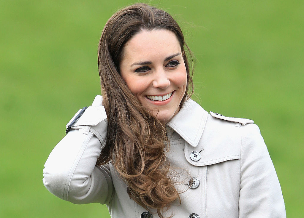 Kate Middleton smiles as she visits Greenmount Agricultural College on March 8, 2011 in Belfast, Northern Ireland