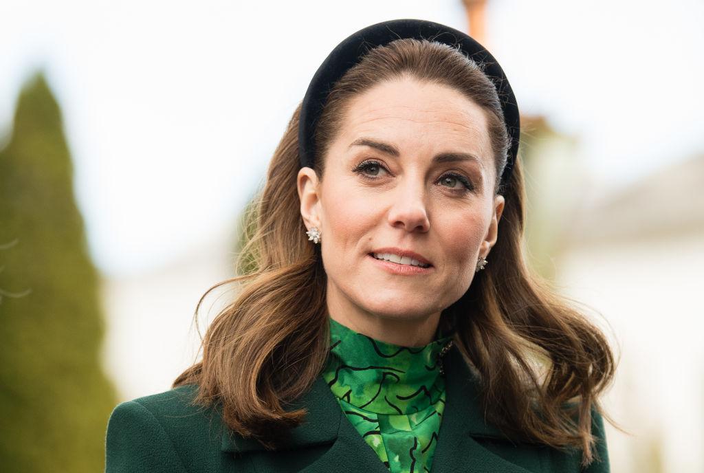 Kate Middleton during a meeting at Áras an Uachtaráin on March 03, 2020 in Dublin, Ireland