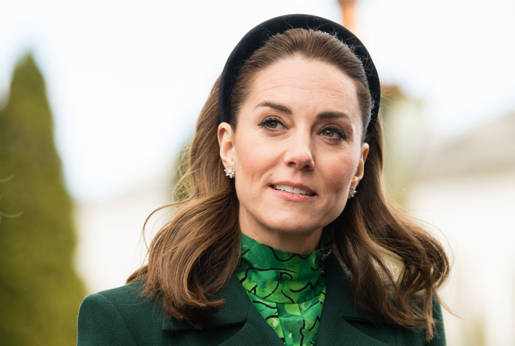 Kate Middleton during a meeting at Áras an Uachtaráin on March 03, 2020 in Dublin, Ireland
