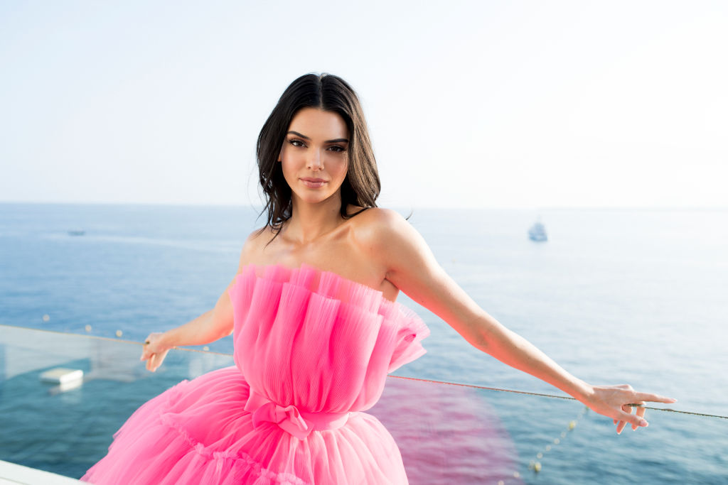 Kendall Jenner poses for portraits during the amfAR Cannes Gala 2019