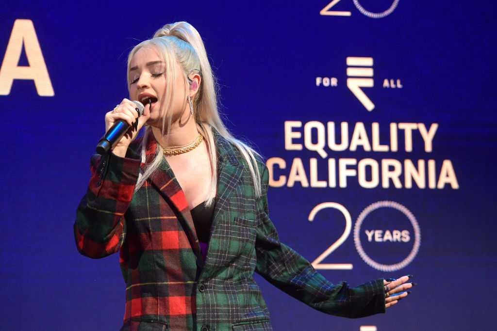 Kim Petras performs onstage during Equality California's Special 20th Anniversary Los Angeles Equality Awards on September 28, 2019.