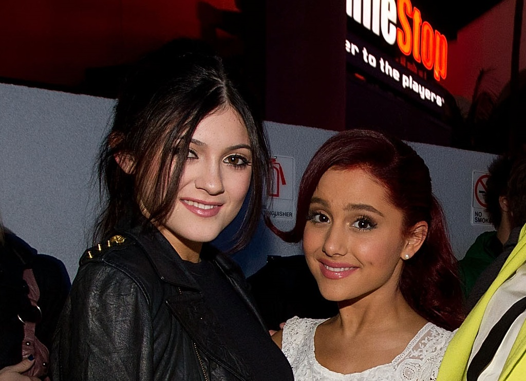 Kylie Jenner and Ariana Grande on December 6, 2011