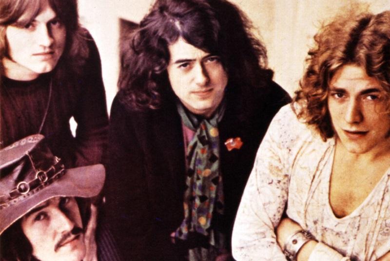 Led Zeppelin band photo, 1969