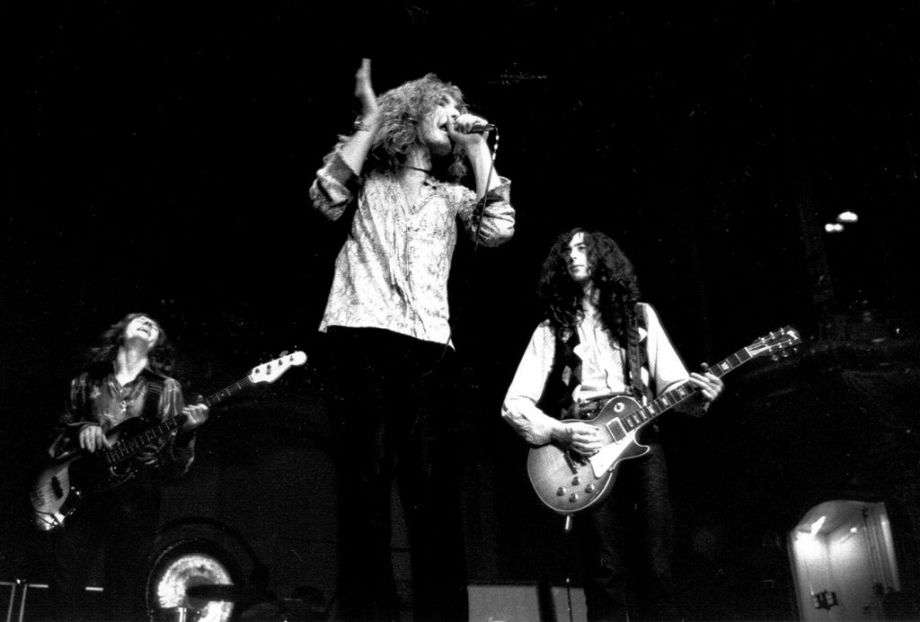 Led Zeppelin onstage on 1970