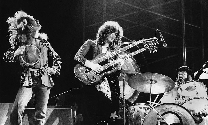 Led Zeppelin performing in Germany