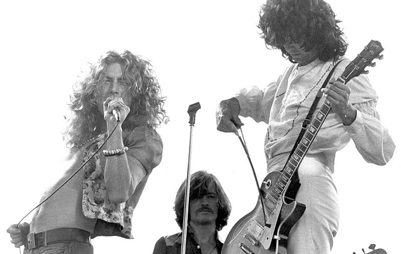Led Zeppelin playing San Francisco in 1973