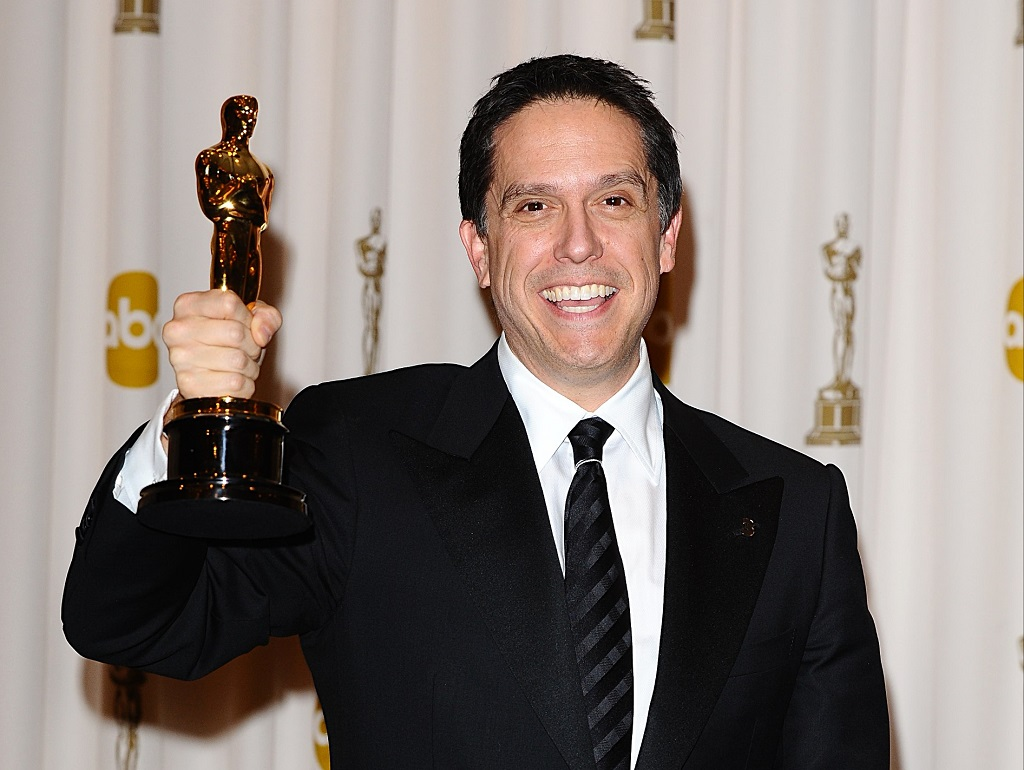 Lee Unkrich with the Best Animated Feature award, received for 'Toy Story 3,' at the 83rd Academy Awards