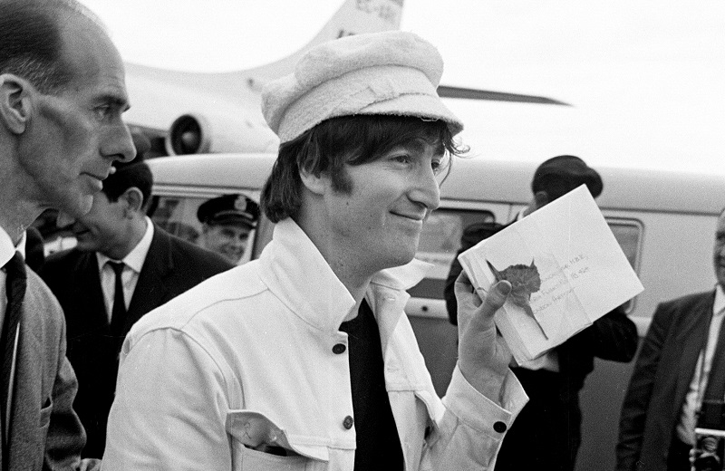 John Lennon at the airport