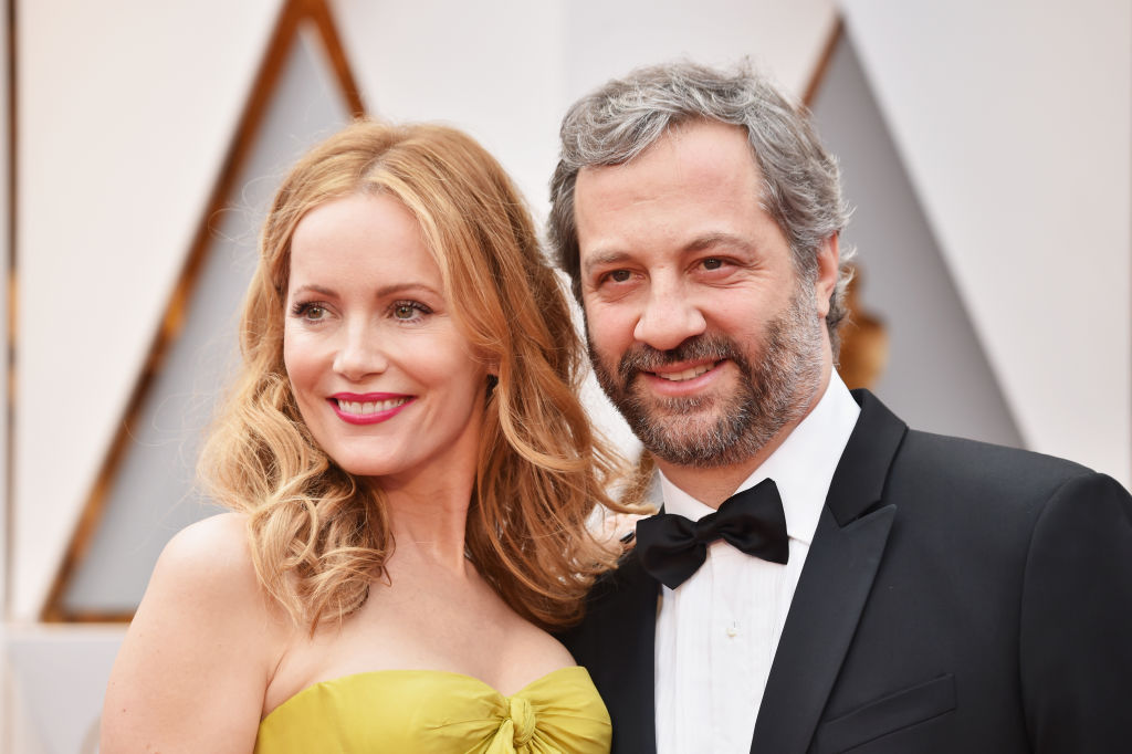Actor Leslie Mann (L) and director Judd Apatow attend the 89th Annual Academy Awards at Hollywood & Highland Center on February 26, 2017 in Hollywood, California.