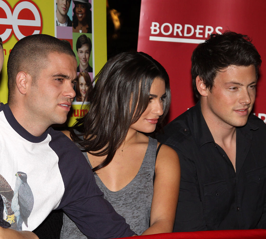 (L-R) Mark Salling, Lea Michele and Cory Monteith of 'Glee'