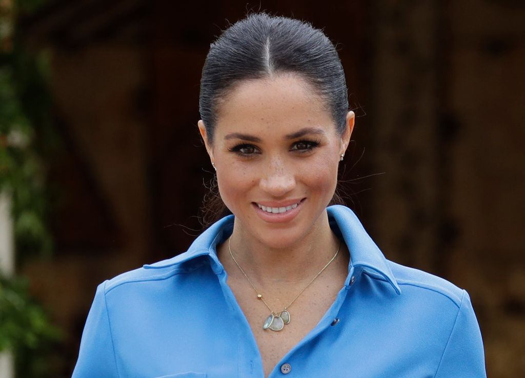 Meghan Markle during a visit to Tupou College in Tonga on the second day of the royal couple's visit to Tonga