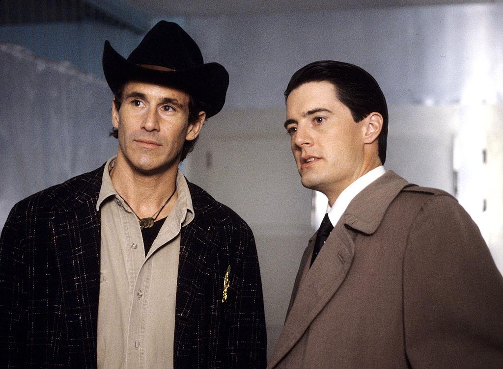Michael Ontkean and Kyle MacLachlan in Twin Peaks