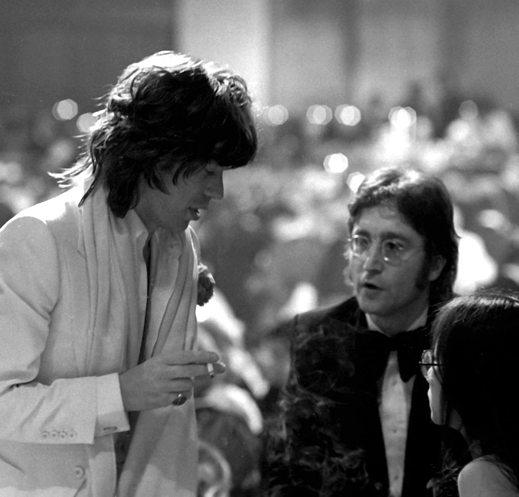 Mick Jagger, John Lennon, and May Pang