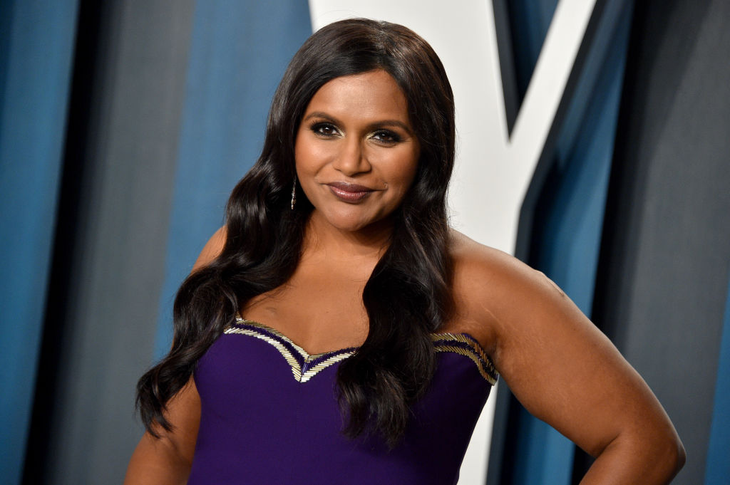 Mindy Kaling attends the 2020 Vanity Fair Oscar Party hosted by Radhika Jones at Wallis Annenberg Center for the Performing Arts on February 09, 2020 in Beverly Hills, California.