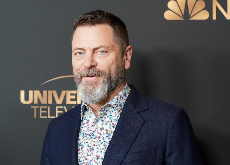 Nick Offerman on the red carpet