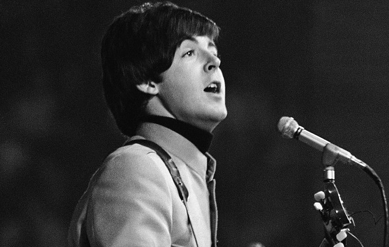 Paul McCartney on stage in 1965