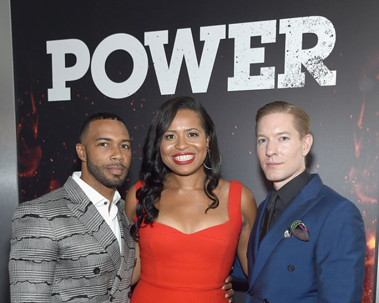 'Power' creator Courtney Kemp with Omari Hardwick and Joseph Sikora