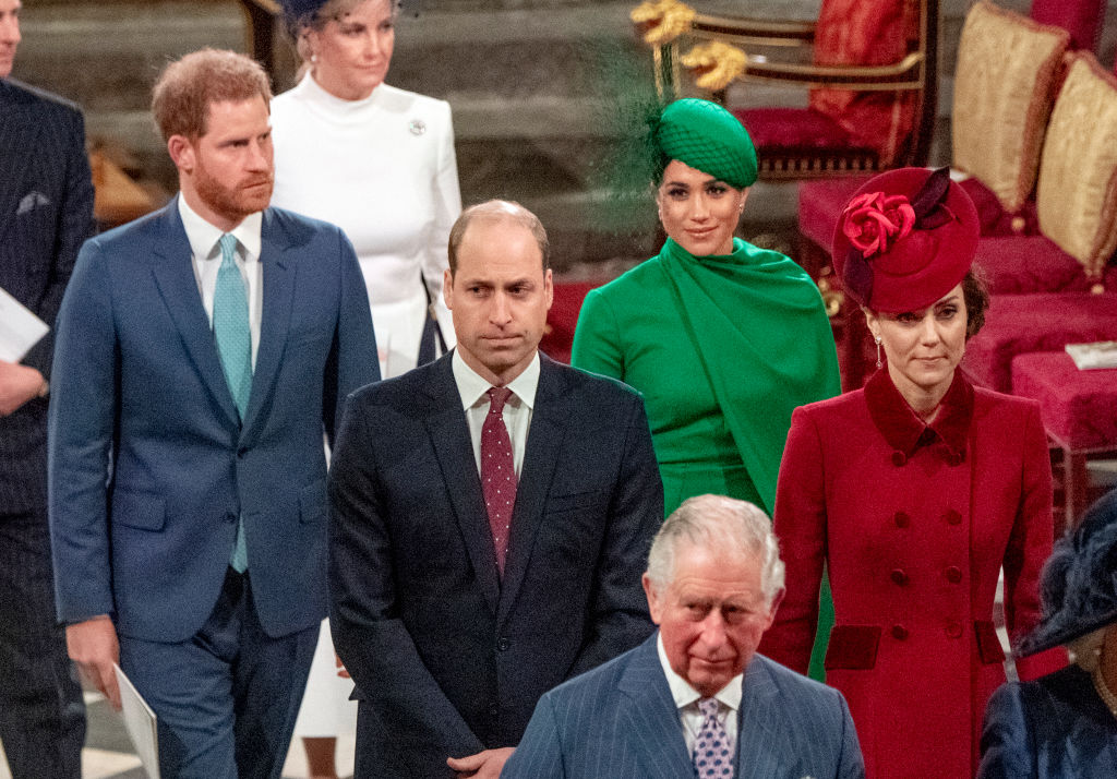 Prince Harry, Meghan Markle, Prince William, Kate Middleton, and Prince Charles attend the Commonwealth Day Service 2020