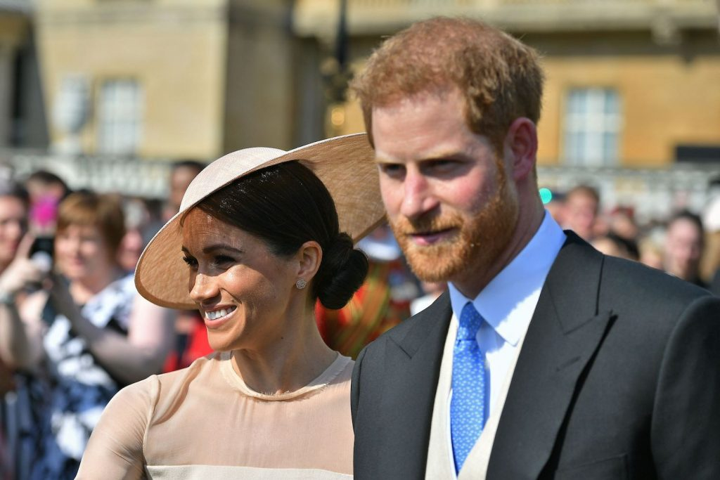 Prince Harry and Meghan Markle attend Prince Charles' 70th birthday garden party at Buckingham Palace